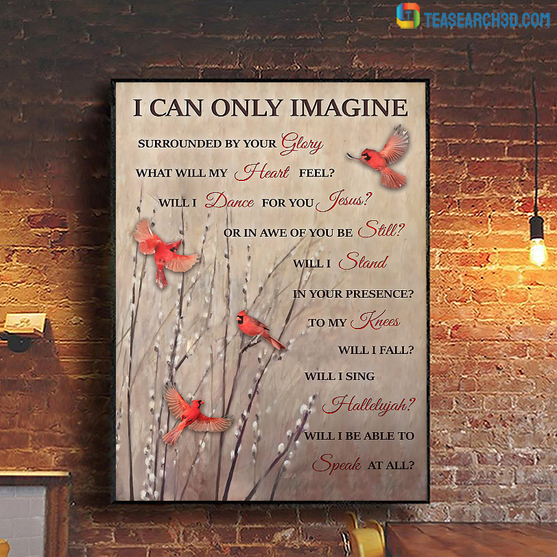 Cardinal I can only imagine poster A1