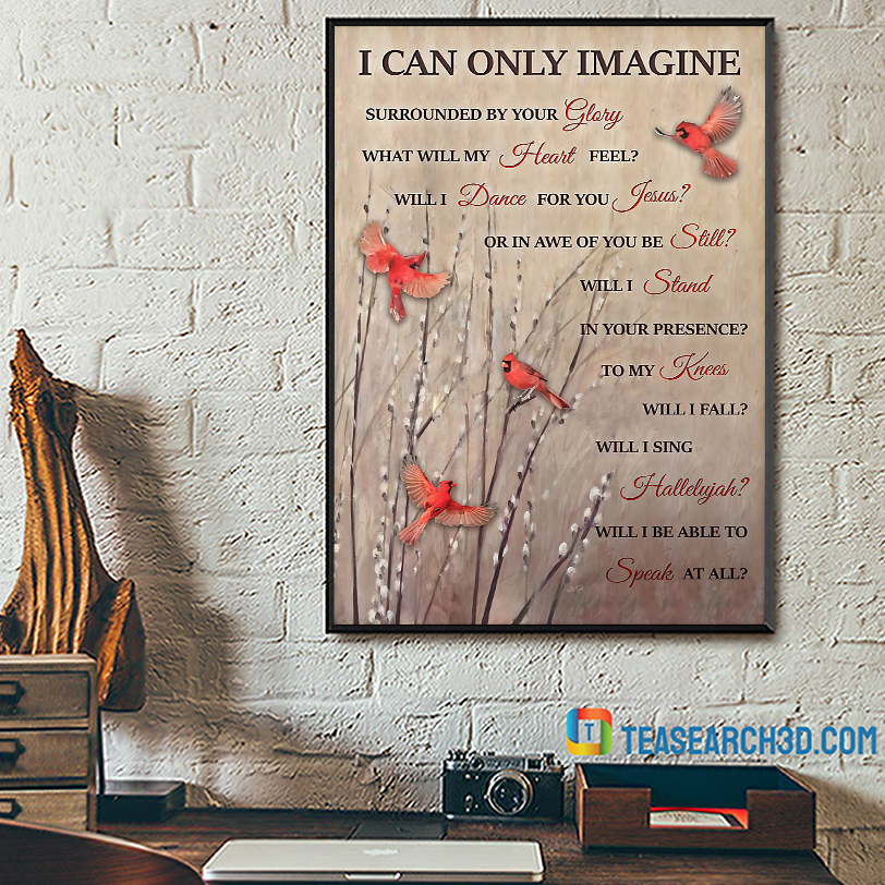 Cardinal I can only imagine poster A2