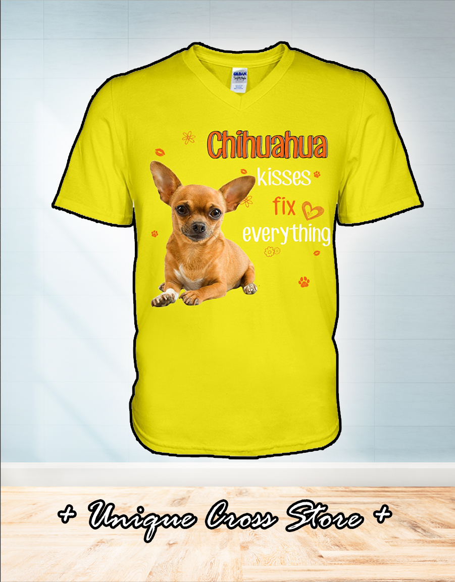 Chihuahua kisses fix everything v-neck
