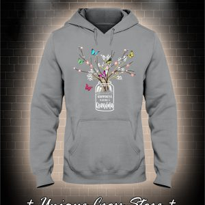 Happiness Is Being A Grandma Flower Butterfly hoodie