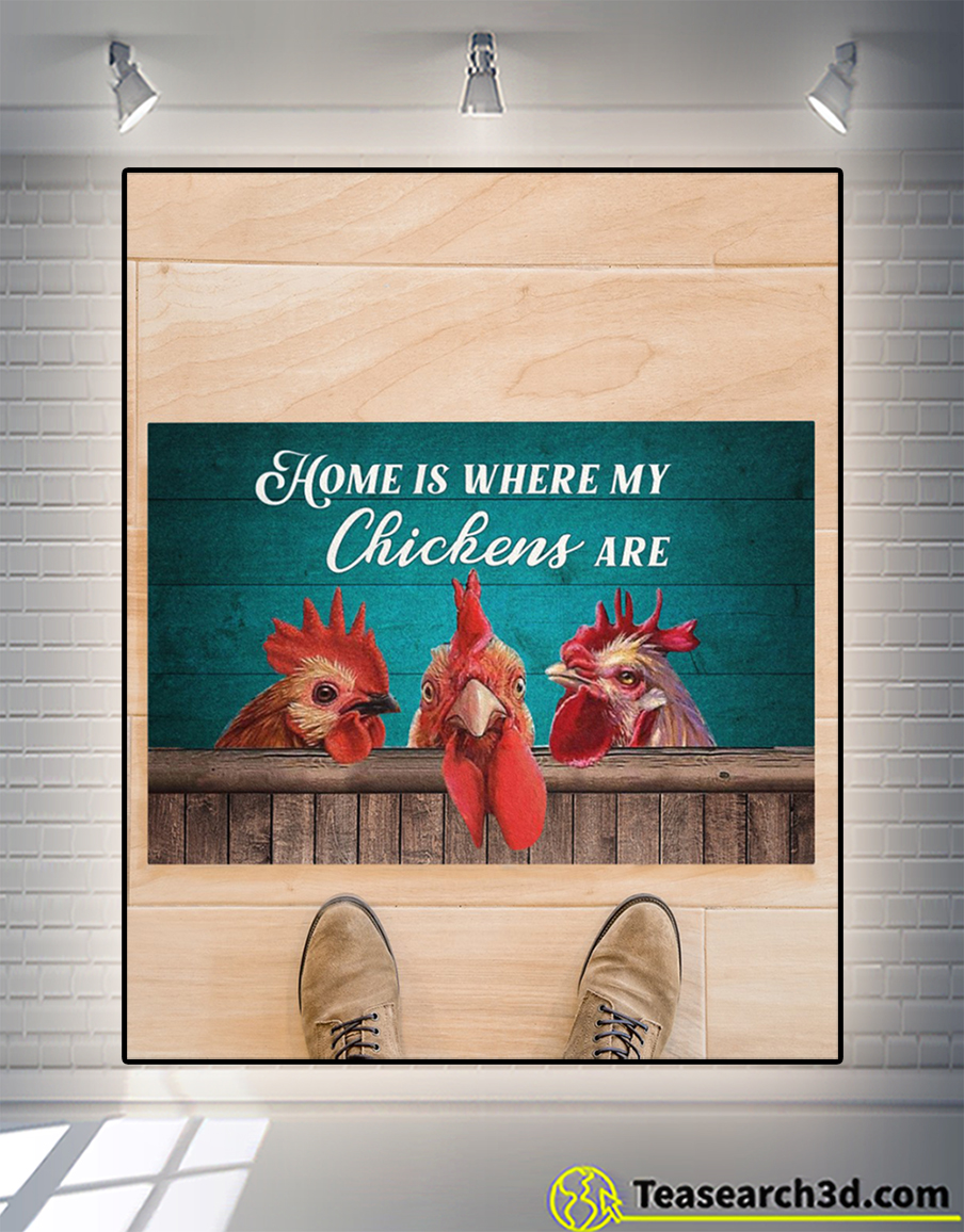 Home is where my chickens are doormat 1