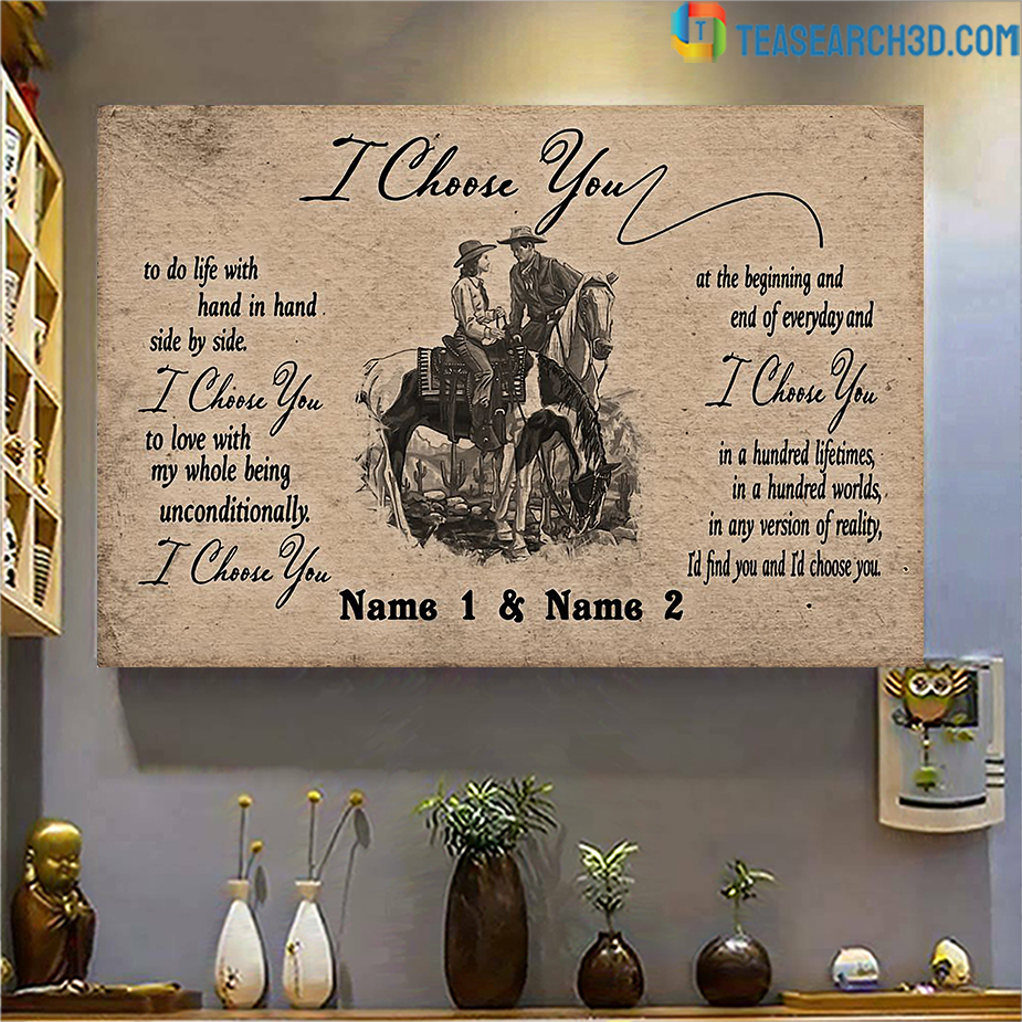 Personalized custom name horse I choose you poster A3