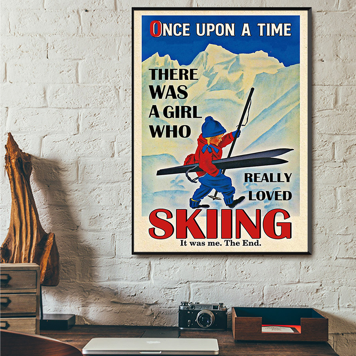 Poster once upon a time there was a girl who really loved skiing A2