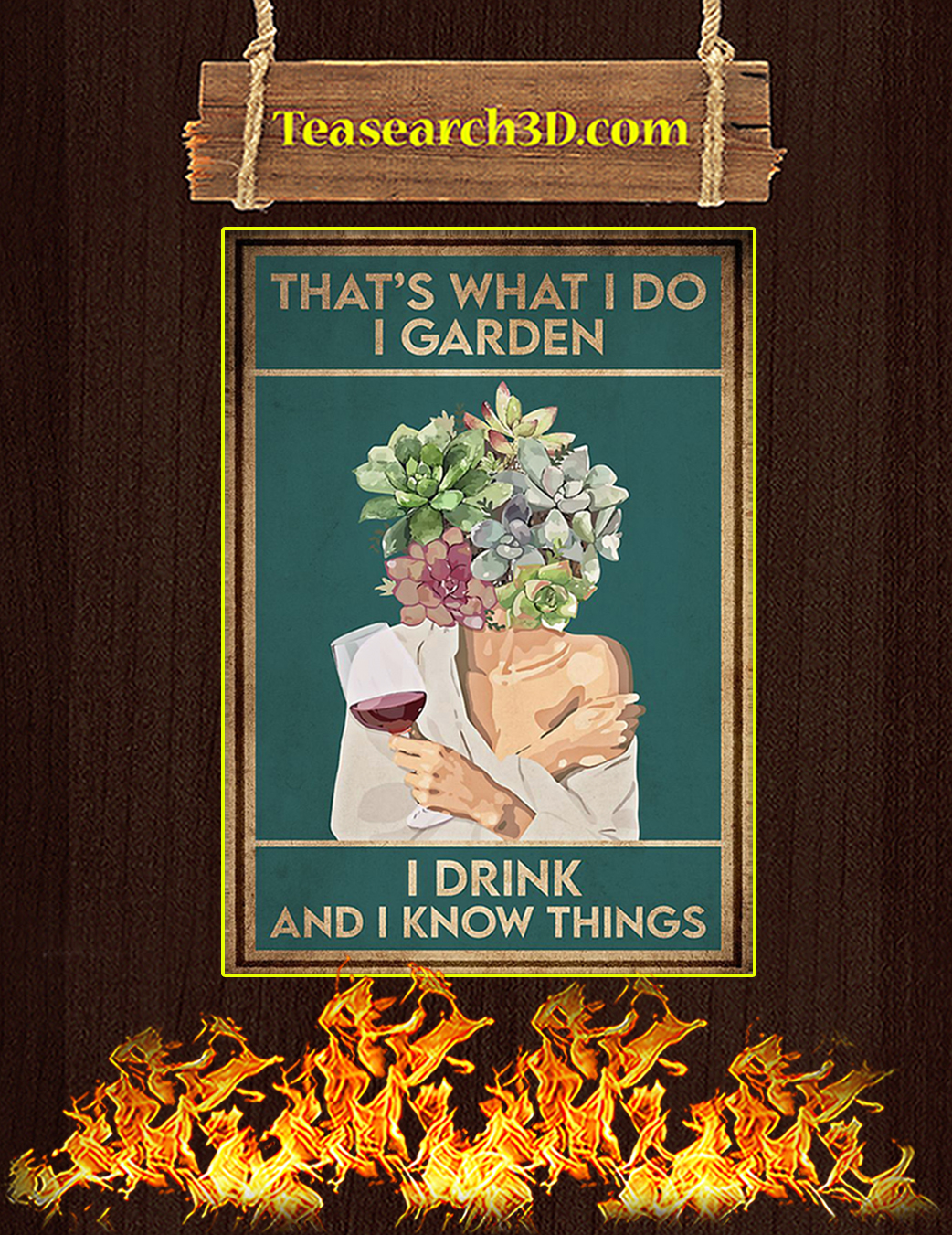 Pot head that's what I do I garden I drink and I know things poster A1