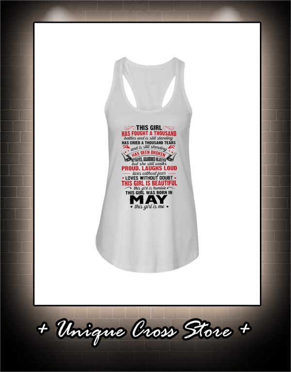 This Girl Has Fought A Thousand Battles And Is Still Standing tank top