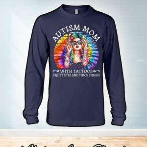 Vintage Autism mom with tattoos pretty eyes and thick thighs sweater