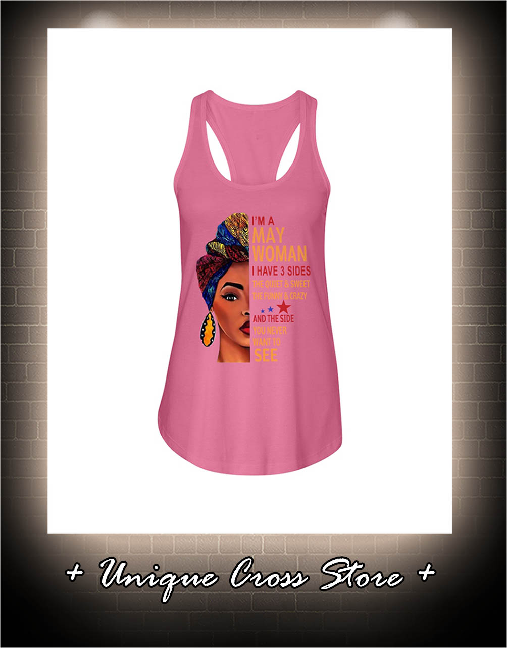 African I'm A May Woman I Have 3 Sides The Quiet And Sweet The Funny And Crazy flow tank