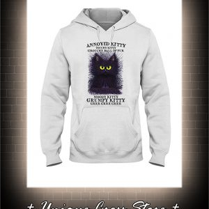 Annoyed kitty touchy kitty grouchy ball or fur moody kitty grumpy kitty grrr hoodie