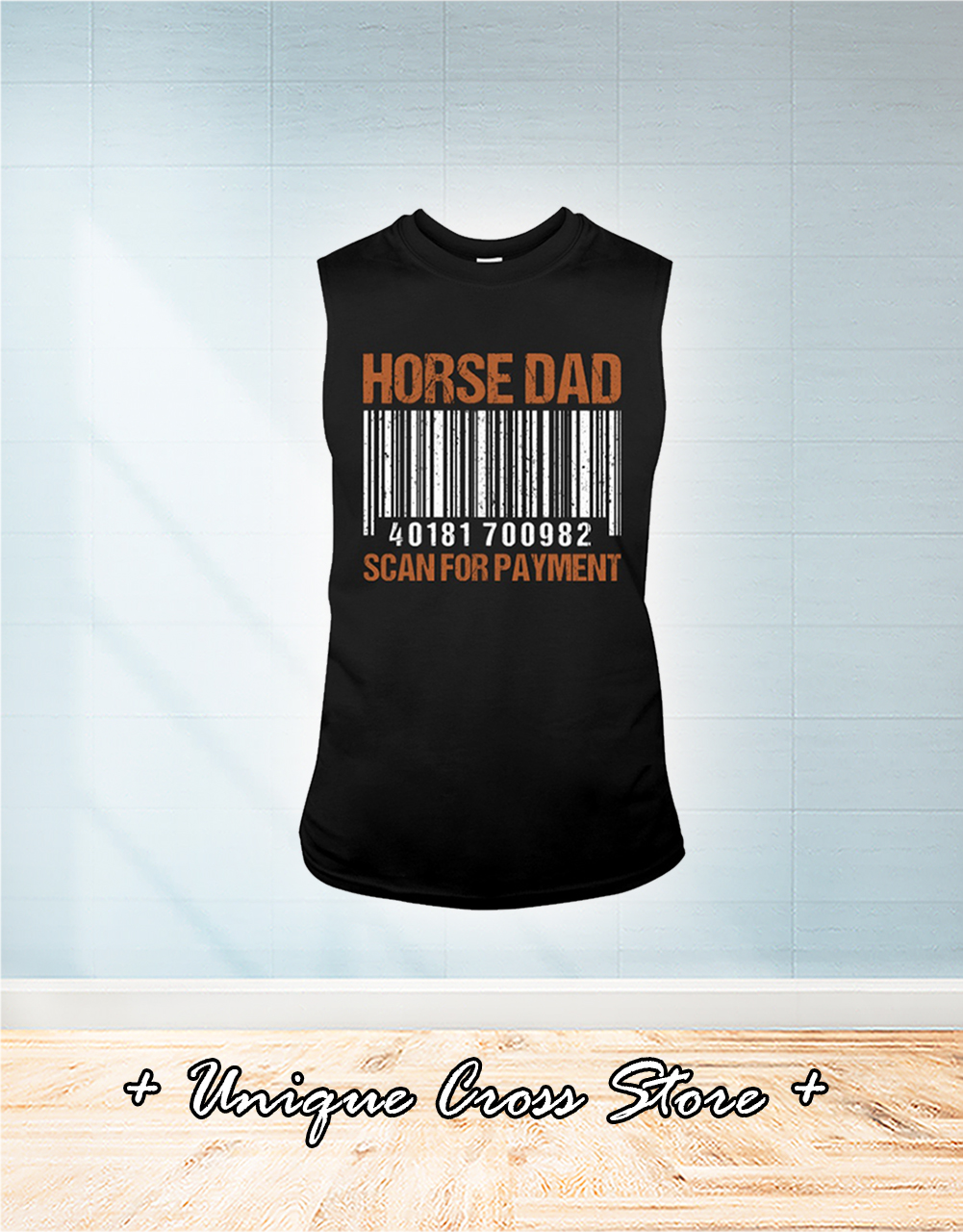 Barcode Horse Dad Scan For Payment tank top