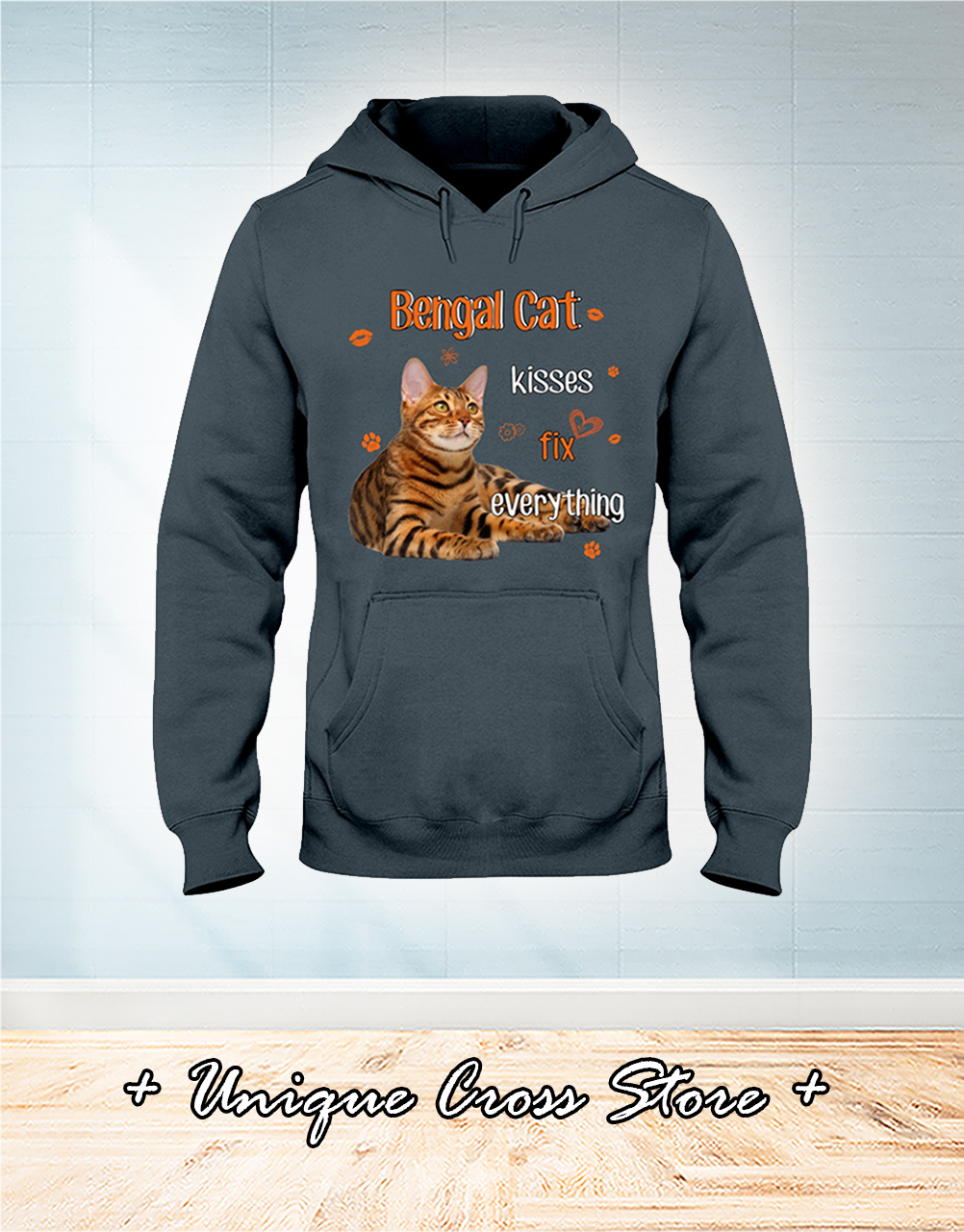 Bengal Cat Kisses Fix Everything hoodie