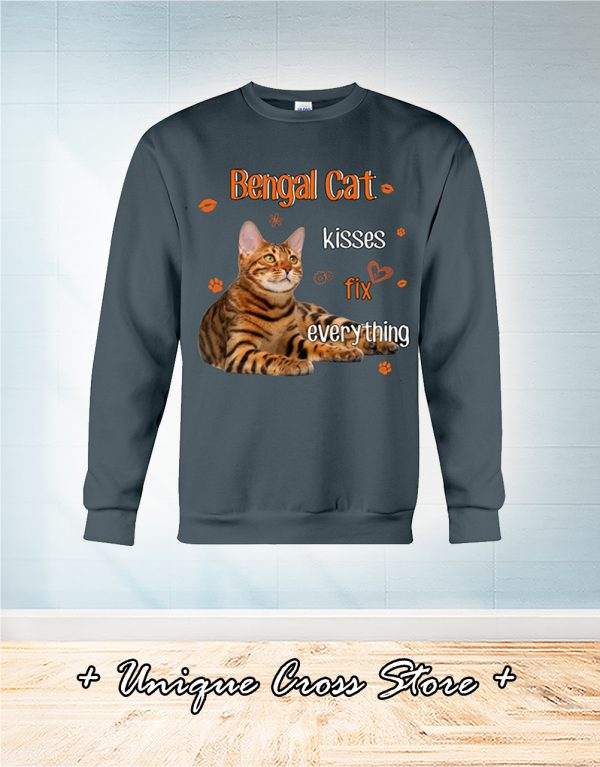 Bengal Cat Kisses Fix Everything sweater