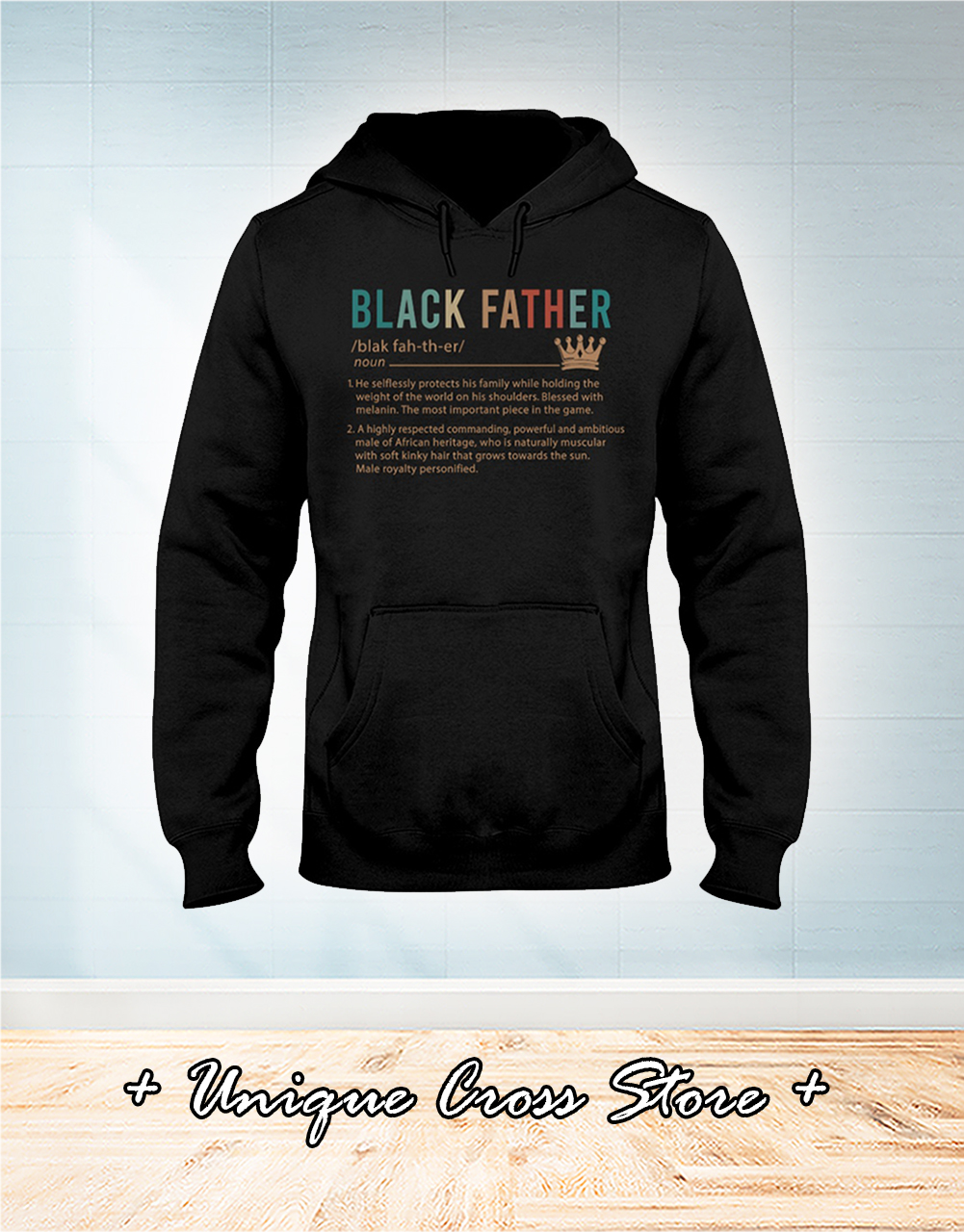 Black father definition hoodie