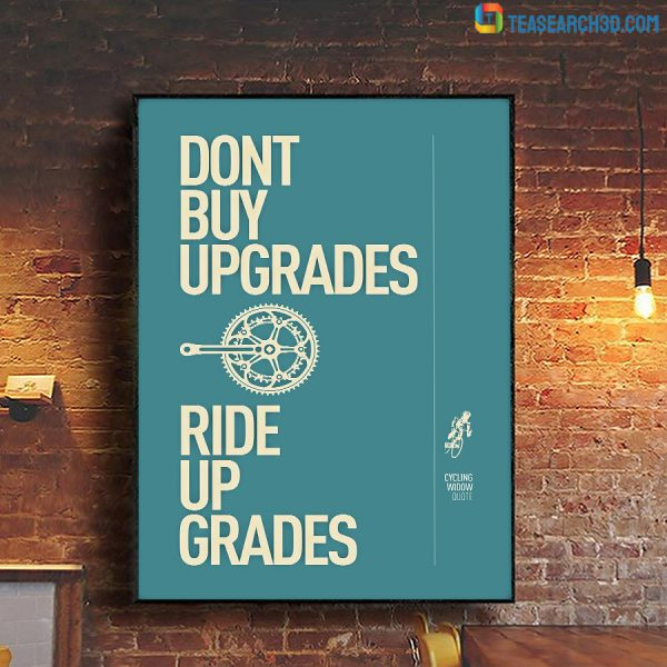 Cycling Ride Up Grades Poster A2