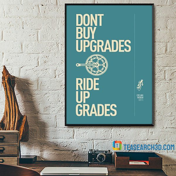 Cycling Ride Up Grades Poster A3