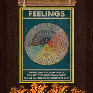 Feelings social worker vertical poster A1