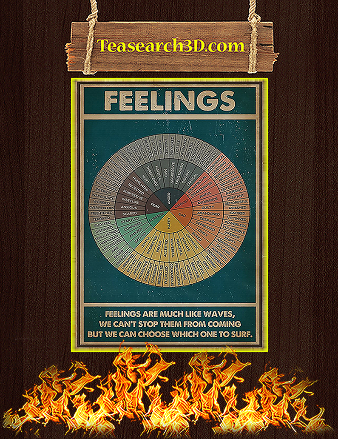 Feelings social worker vertical poster A2