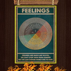 Feelings social worker vertical poster A3