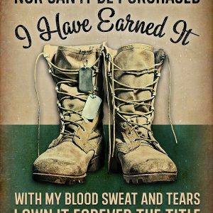 I Have Earned It Female Veteran Poster