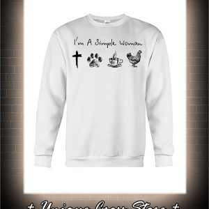 I'm a simple woman jesus dog coffee chicken sweater