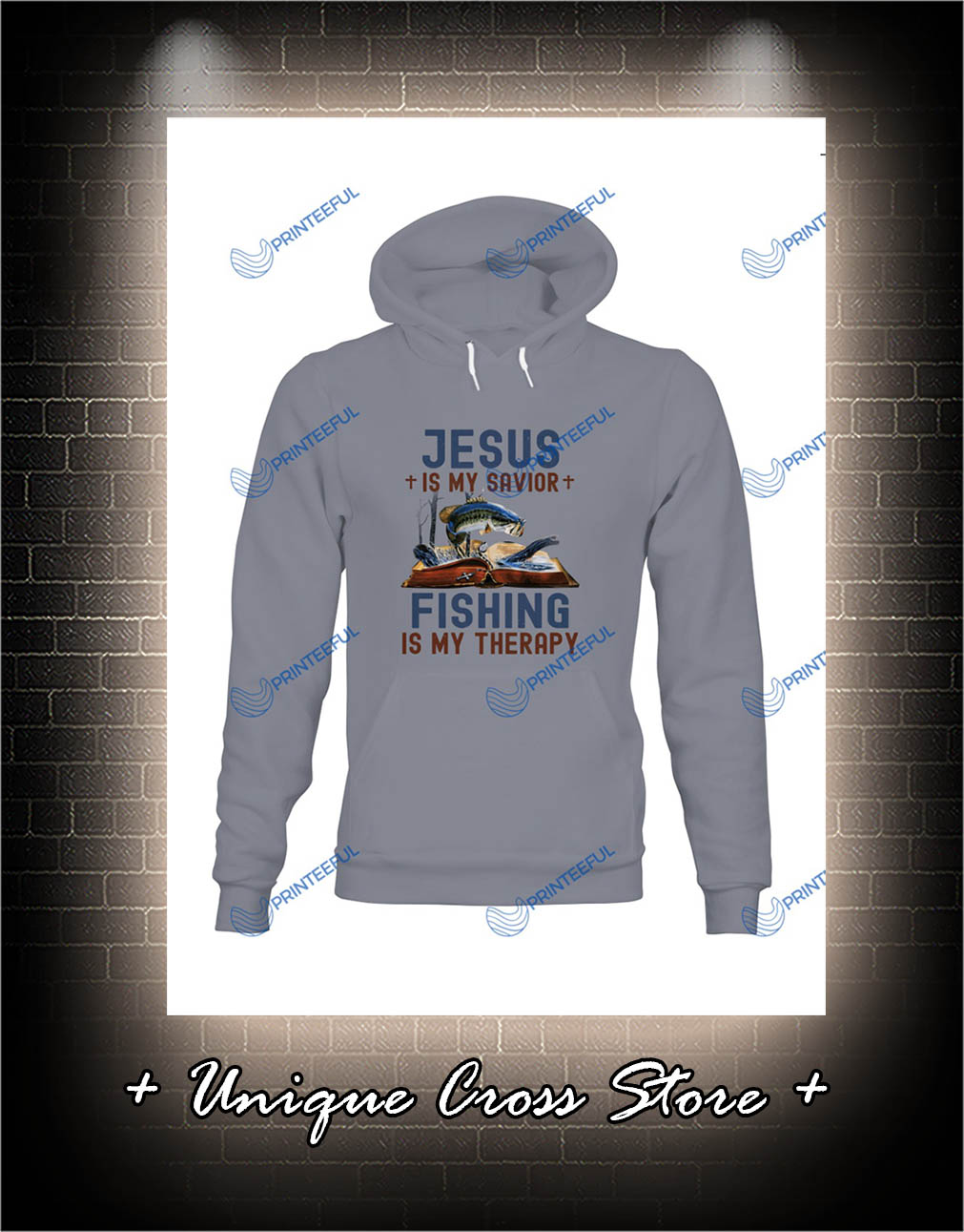 Jesus Is My Savior Fishing Is My Therapy hoodie