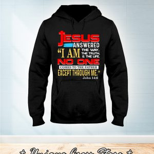 Jesus answered I'm the way the truth and the life no one comes to the father except through me john 14 6 hoodie