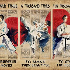 Karate A Hunted Times To Remember The Moves Poster