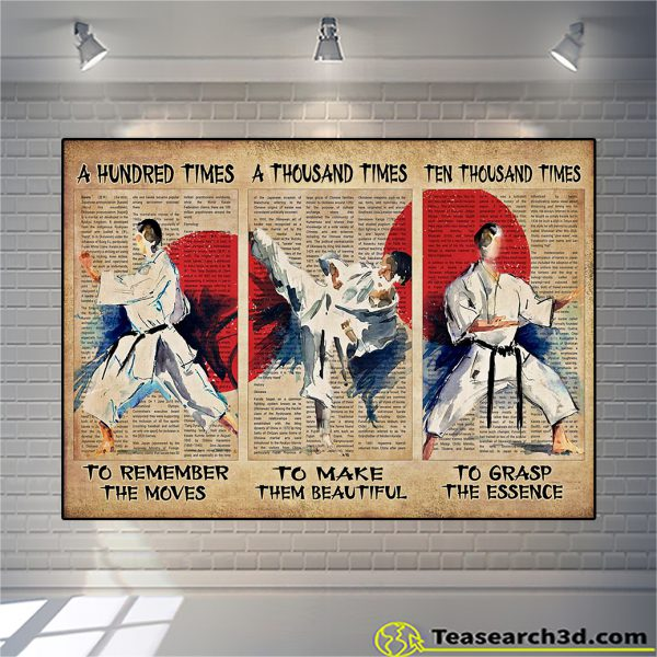 Karate A Hunted Times To Remember The Moves Poster A1