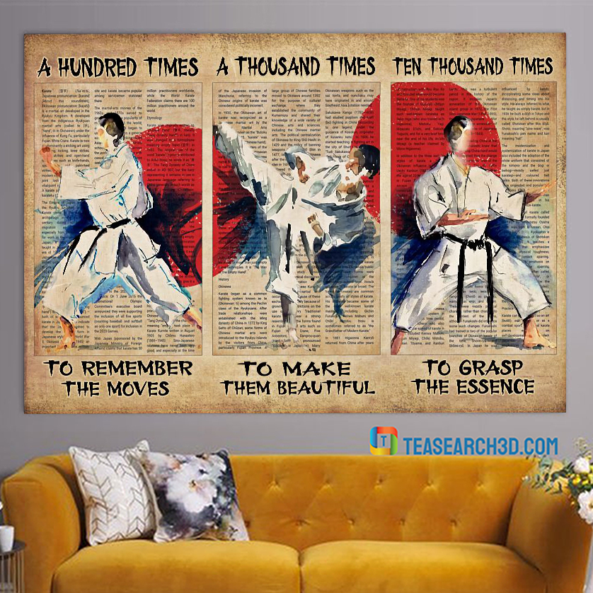 Karate A Hunted Times To Remember The Moves Poster A3