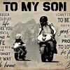 MotoGP To My Son Love Dad Poster