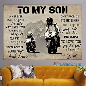MotoGP To My Son Love Dad Poster A1