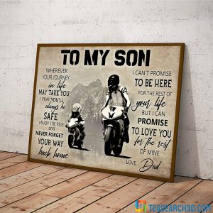 MotoGP To My Son Love Dad Poster A2