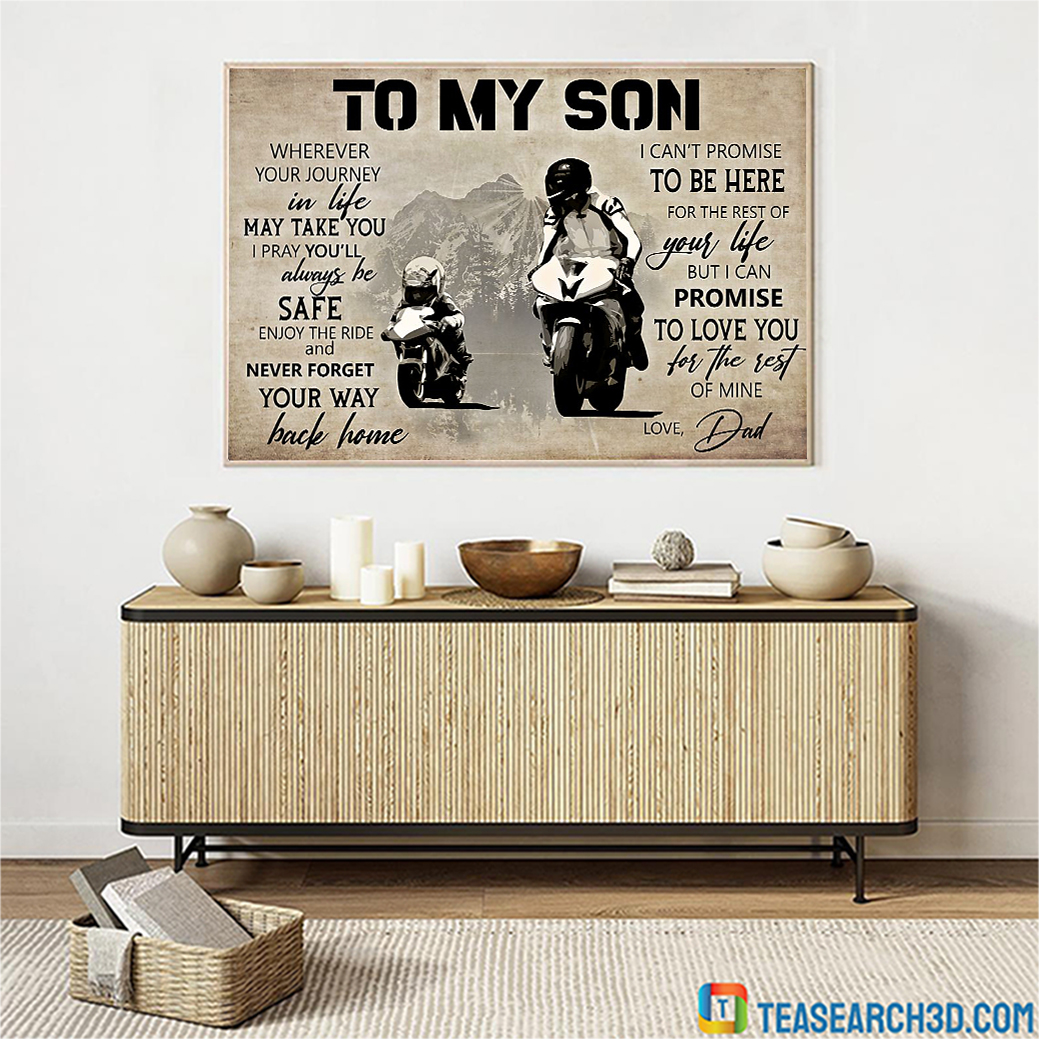 MotoGP To My Son Love Dad Poster A3