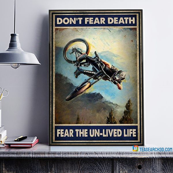 Mountain bike you don't stop riding when you get old poster