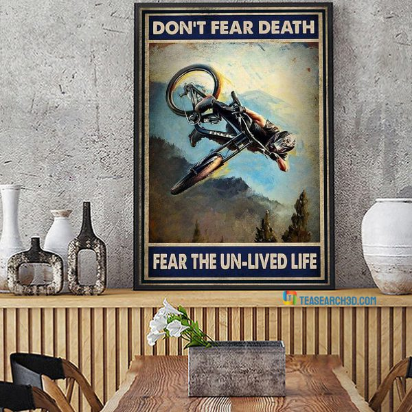 Mountain bike you don't stop riding when you get old poster A1