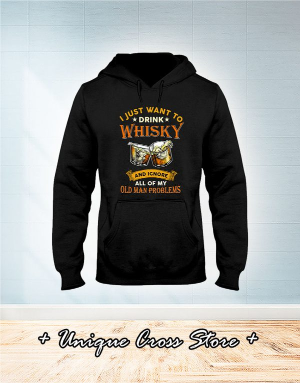Old Men And Whisky Classic hoodie