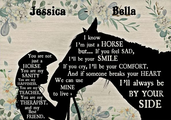 Personalized custom name cowgirl you are just not a horse poster