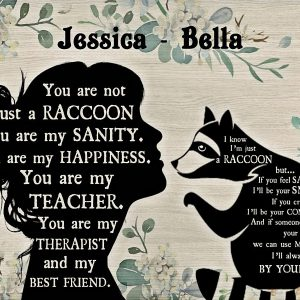 Personalized custom name you are not just a raccoon poster