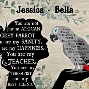 Personalized custom name you are not just an african grey parrot poster