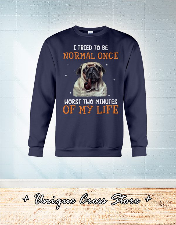 Pug Dog I Tried To Be Normal Once Worst Two Minutes Of My Life sweater