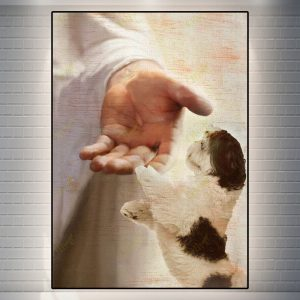 Shih Tzu take my hand canvas prints and poster