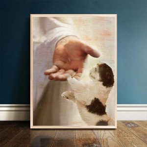 Shih Tzu take my hand canvas prints and poster A1