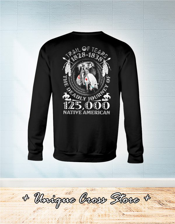 Trail Of Tears 1828 1838 125000 Native American sweater