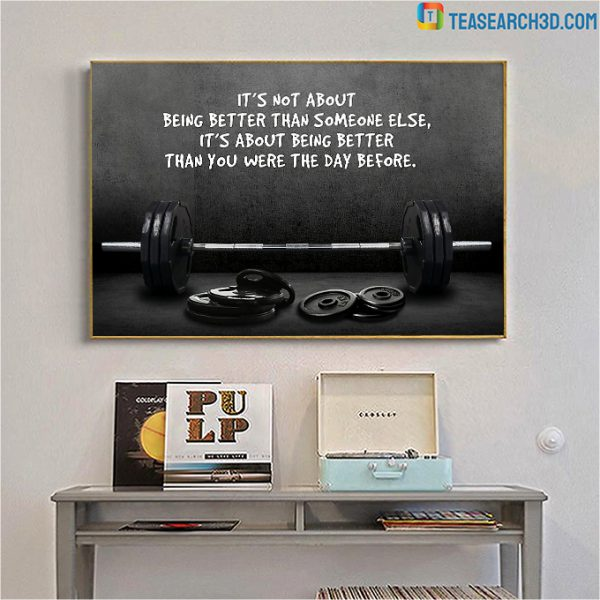 Weightlifting it's not about being better than someone else poster