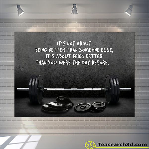 Weightlifting it's not about being better than someone else poster A1