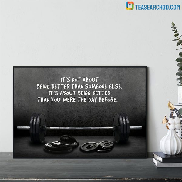 Weightlifting it's not about being better than someone else poster A2