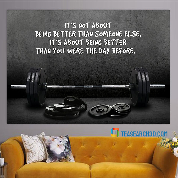 Weightlifting it's not about being better than someone else poster A3