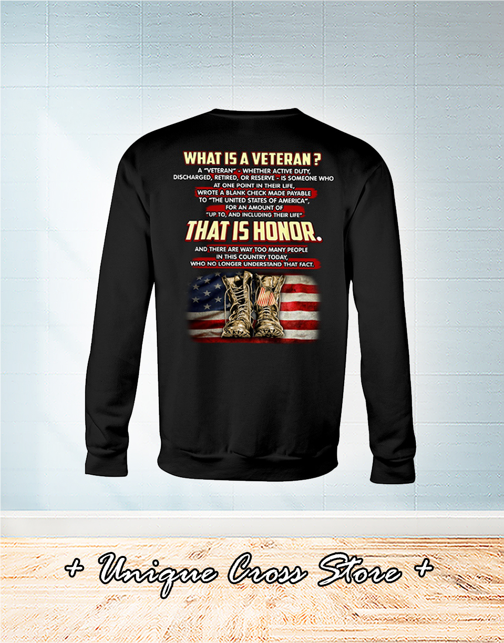 What Is A Veteran That It Honor long sleeve