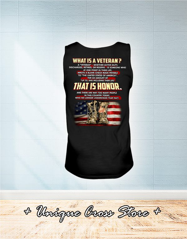 What Is A Veteran That It Honor tank