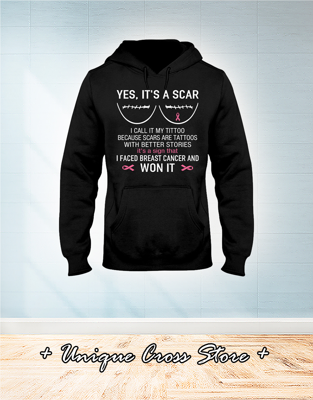 Yes it's a scar I call it my tittoo hoodie