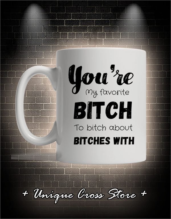 You're my favorite bitch to bitch about bitches with mug front